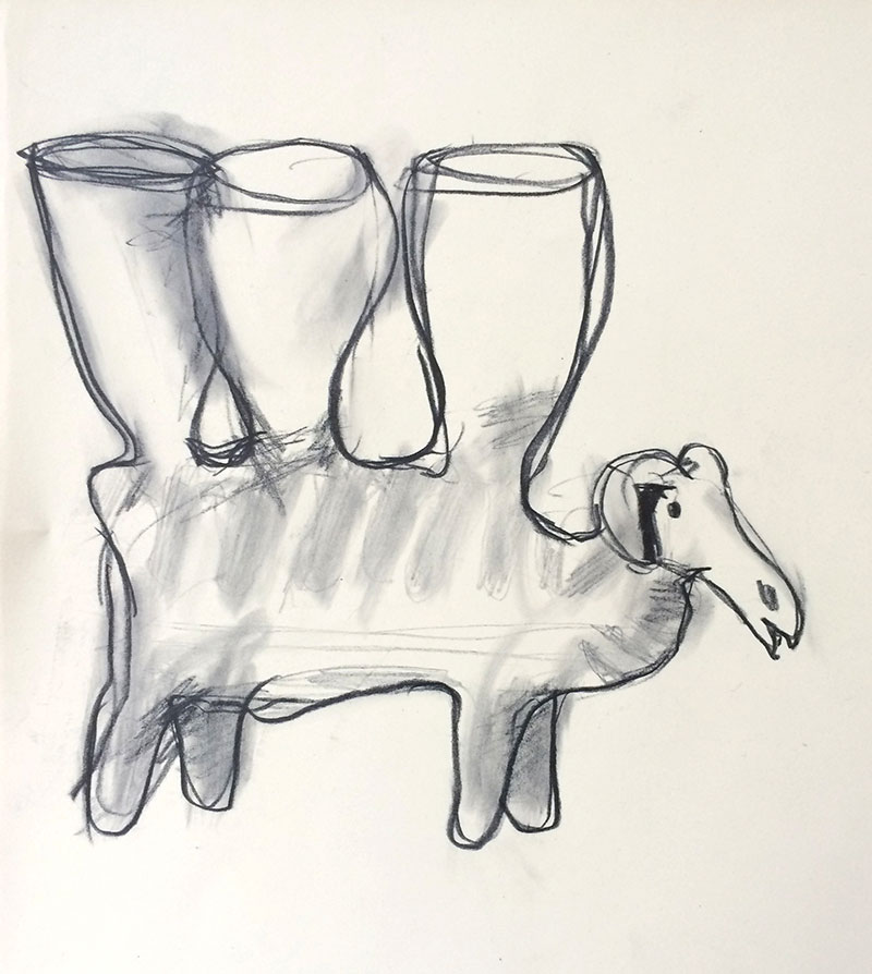 Animal with 3 Vessels